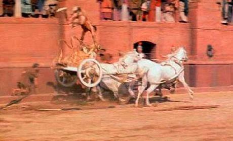 Rodaje Ben-Hur carrera carros