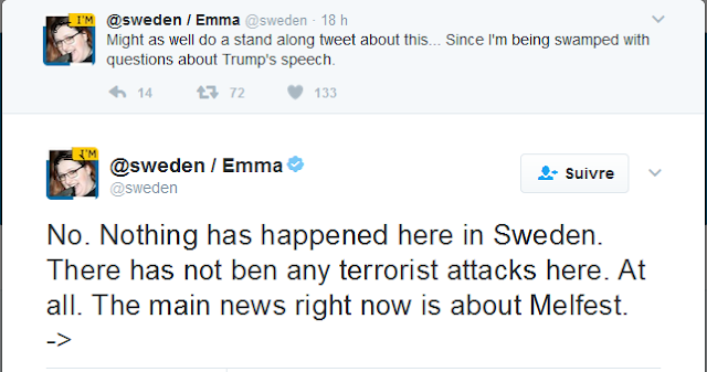 Trump Says, 'Look What's Happening In Sweden.' Sweden Asks, 'Wait, What?'