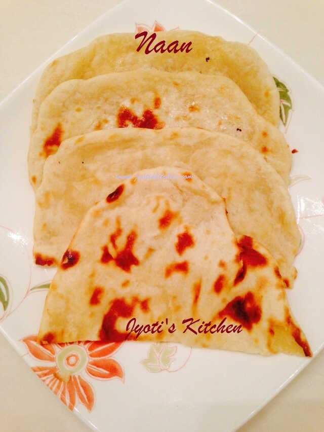 Naan  Recipe soft Indian style flat bread