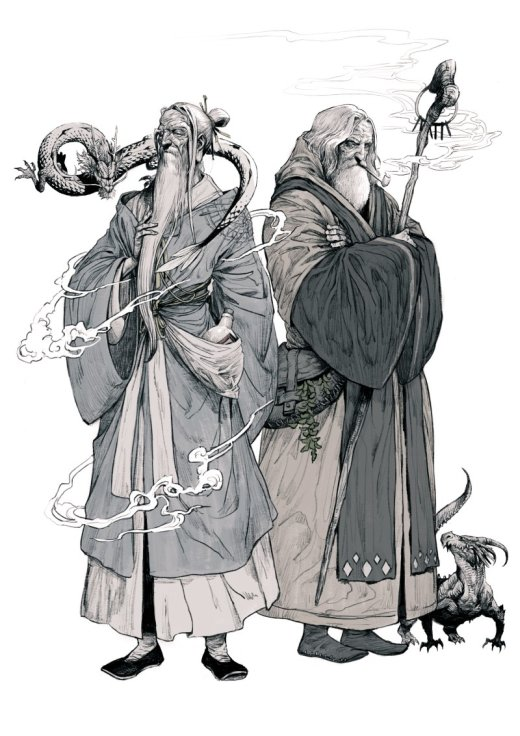 Kyoung Hwan Kim artstation ilustrações fantasia oriental mulheres