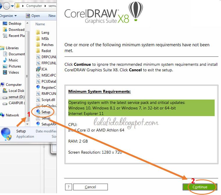 cara install coreldraw x8 dan aktivasi | lala fido prasetya