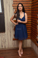 Radhika Mehrotra in a Deep neck Sleeveless Blue Dress at Mirchi Music Awards South 2017 ~  Exclusive Celebrities Galleries 076.jpg