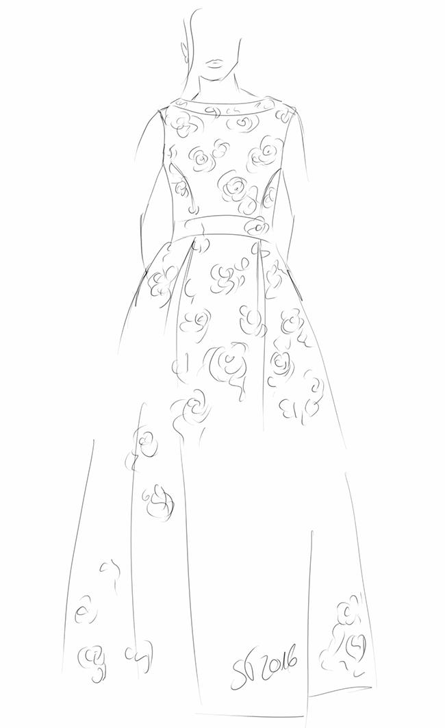 wedding, weddingdress, lace, sewing, nähen, Hochzeit, Hochzeitskleid, Spitze, Burda style, fashionsketching, Modezeichnung