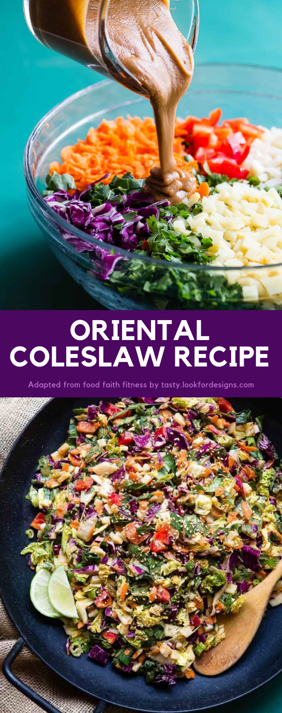 Oriental Coleslaw with Asian Dressing