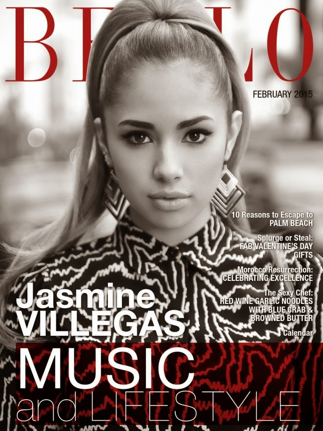 Jasmine Villegas goes glamorous for Bello Magazine's February 2015 edition