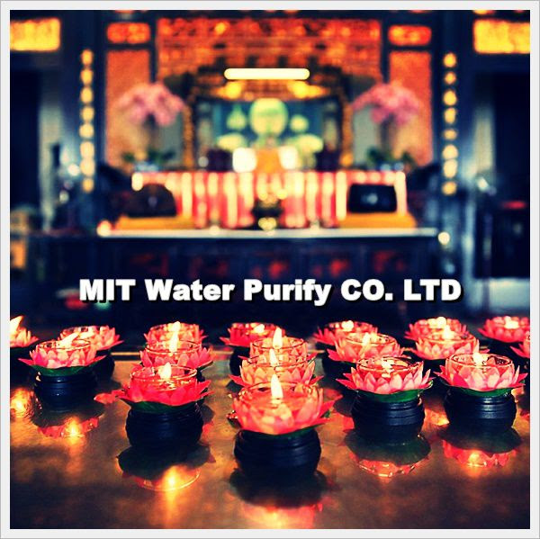 Big Chinese Temple offer the Chinese lotus lantern with peace for you as you need and donate some money to maintenance the Chinese Temple by MIT Water Purify Professional Team Company Limited