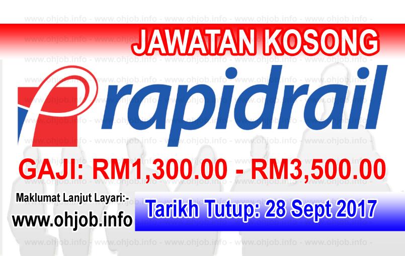 Jawatan Kerja Kosong Rapid Rail Sdn Bhd logo www.ohjob.info september 2017