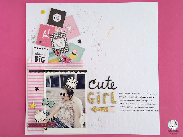 layout cute girl