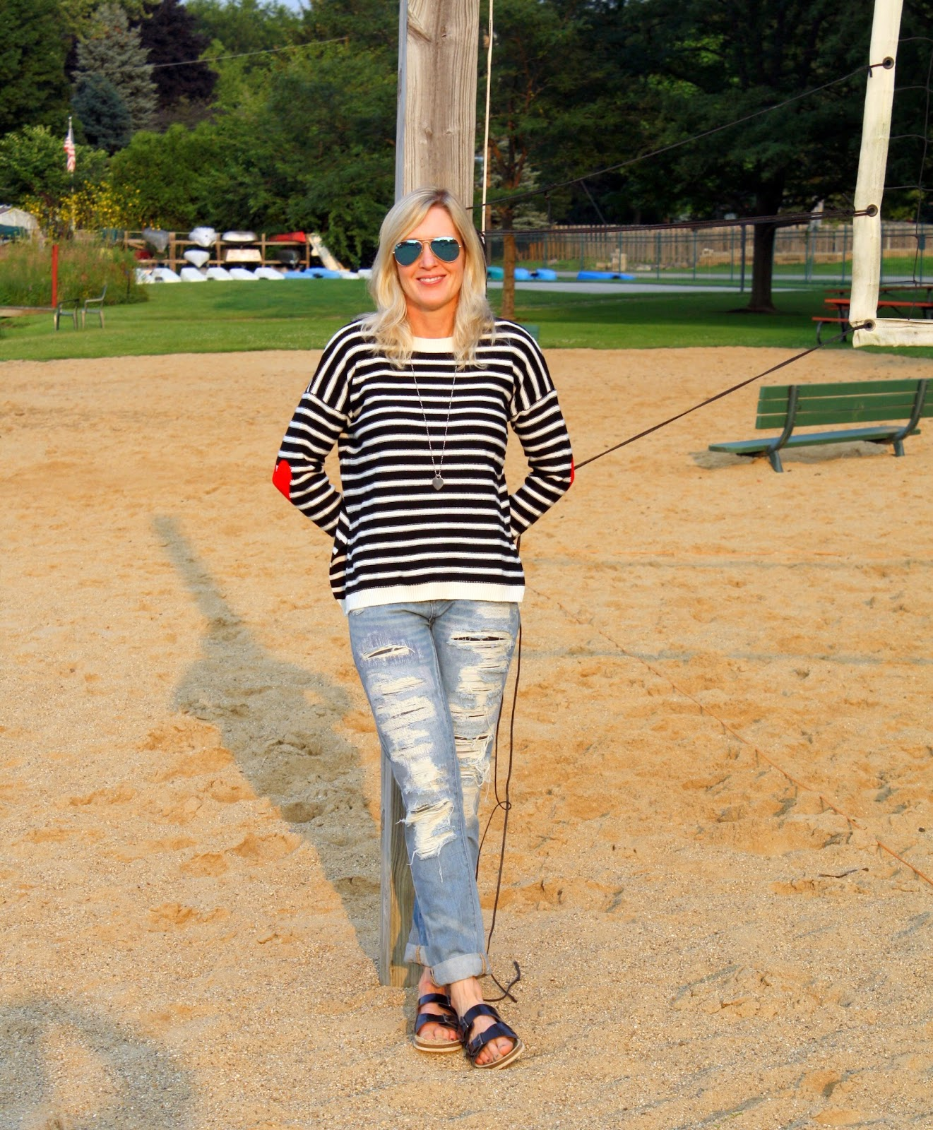 SheIn Striped Sweater for Fall