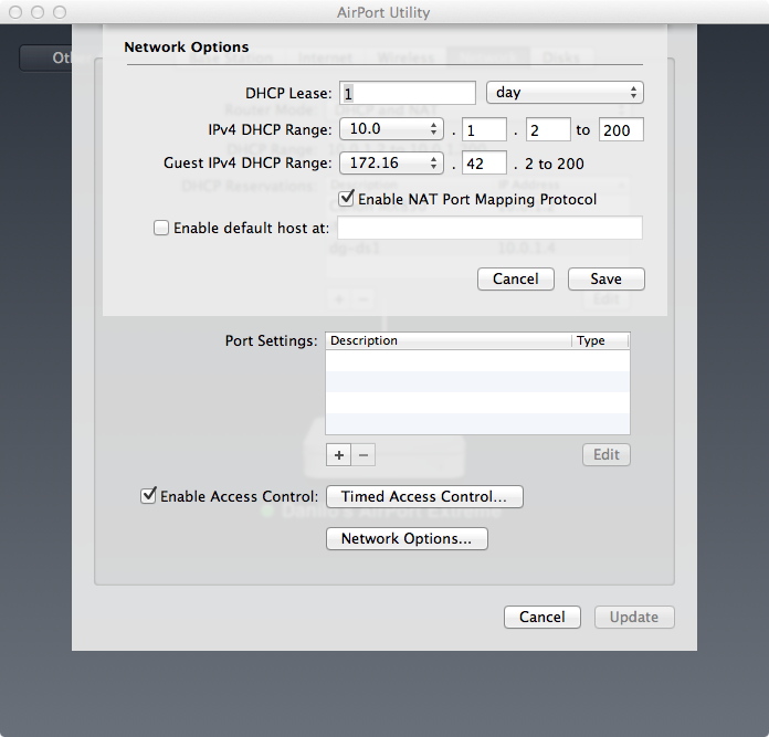 Danilo's Tech Blog: Configuring the Apple Airport Extreme
