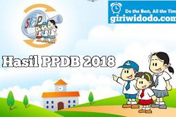 Hasil PPDB SMA 2018 / 2019 Kabupaten Bantul