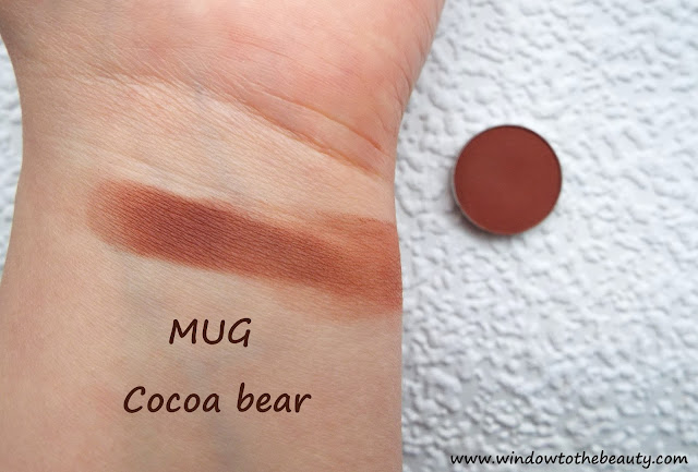 cocoa bear makeup geek swatch