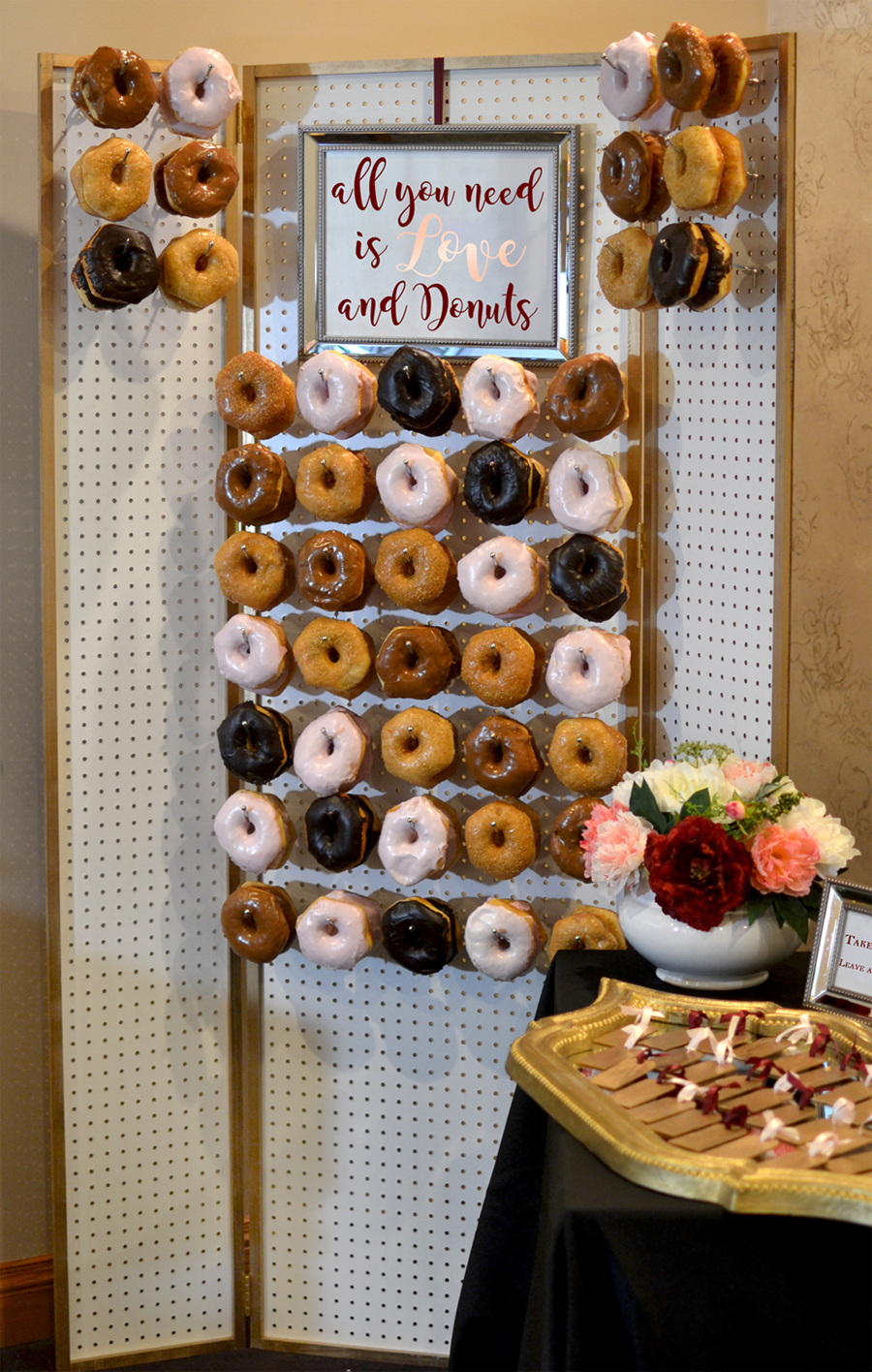 Elegant Wedding Donut Wall