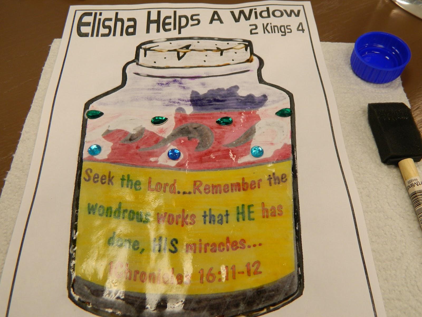 Elijah And The Widow S Oil Craft