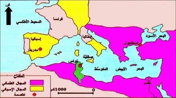 الصراع العثماني الإسباني على البلاد التونسية وانتصاب العثمانيين بتونس