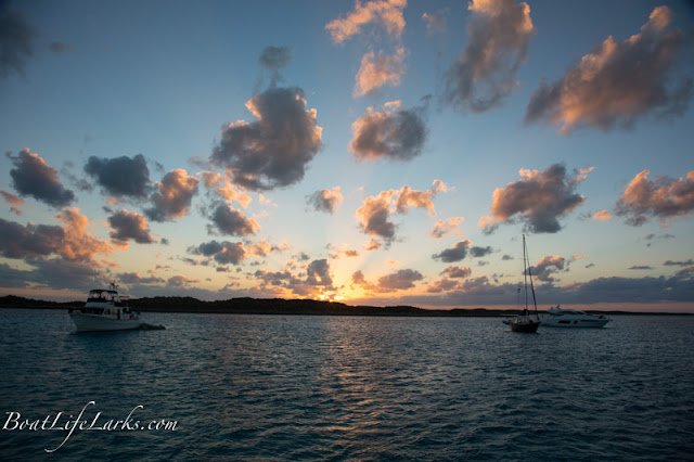 Cambridge Cay moorings sunset