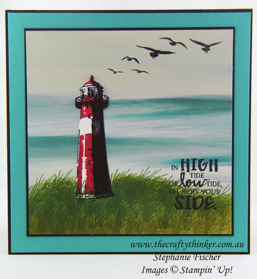 www.thecraftythinker.com.au, High Tide, Serene Scenery, #thecraftythinker, Stampin Up Australia Demonstrator, Stephanie Fischer, Sydney NSW