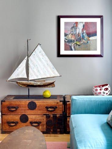 vintage iron weather vane ship