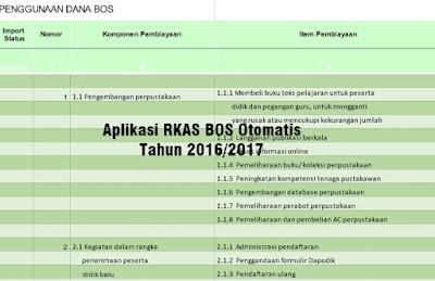 Program RKAS BOS Otomatis Tahun 2016/2017