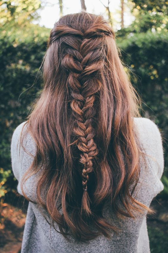 fishtail braid idea to try this fall