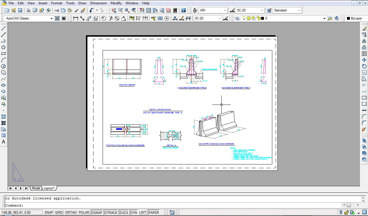 KYF BLOG s DETAIL CONCRETE BARRIER  AutoCad