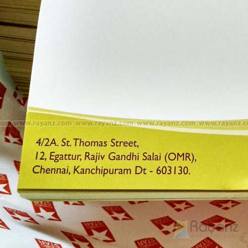 A4 letterhead printing chennai