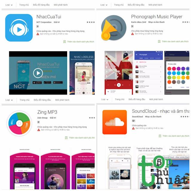TOP 5 phần mềm nghe nhạc miễn phí trên Android