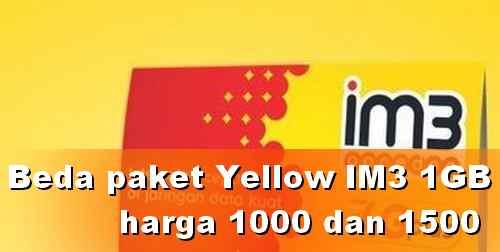 Perbedaan Paket Yellow 1000 dan 1500 dengan Pulsa Safe?