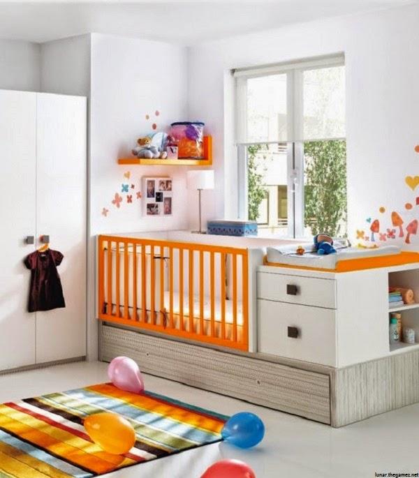 Chambre bébé contemporaine et mixte