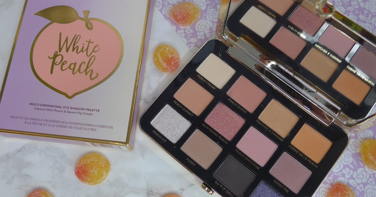 Too Faced White Peach Eye Shadow Palette Swatches 3
