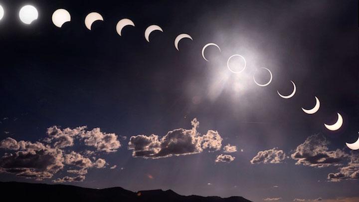 Contoh berlakunya gerhana matahari