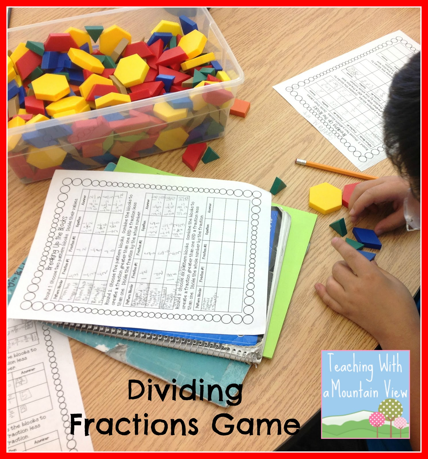 picture about Dividing Fractions Games Printable known as Schooling With a Mountain Belief: Dividing Fractions Anchor