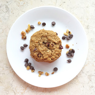 Birdseye View of Loaded Oatmeal Peanut Butter Cookies by www.smokeandvanilla.com - A simple and easy recipe for chewy, flour-less, and gluten free peanut butter cookies loaded with oatmeal, chocolate chips, walnuts, and coconut. http://bit.ly/2o1yz9G