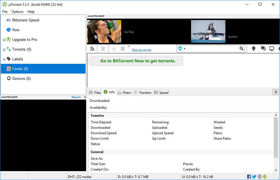 µTorrent 3.5.5 build 45704