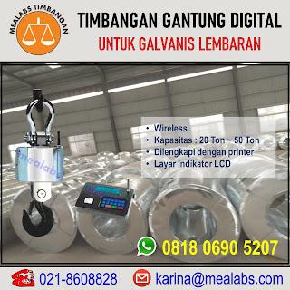 Timbangan Gantung Digital untuk Galvanis Lembaran