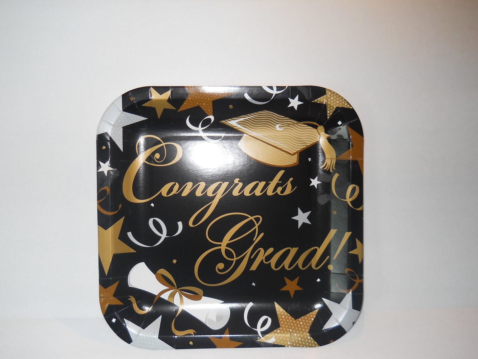 Silver Black Gold Graduation Cupcakes