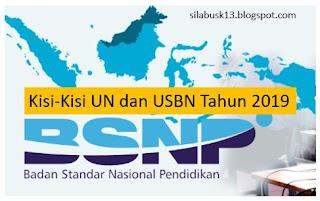 Keputusan ini ditetapkan dalam Surat Keputusan BSNP Nomor Nomor  Kisi-Kisi UN dan USBN Tahun 2019