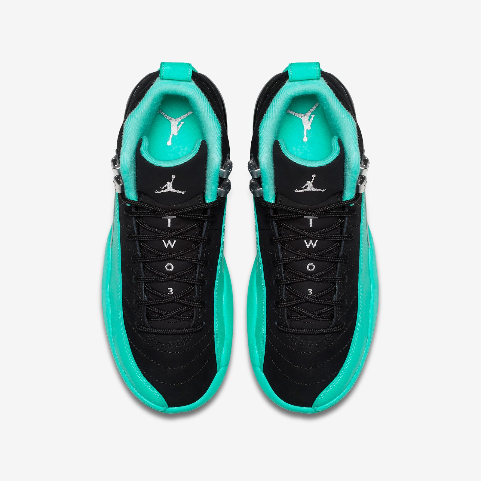finest selection a2284 dbed6 ajordanxi Your  1 Source For Sneaker Release Dates  Girls Air Jordan 12  Retro GG Black Metallic Silver-Hyper Jade Release Reminder