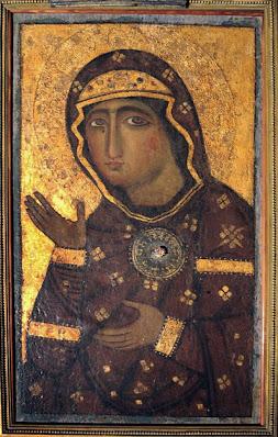 Βυζαντινό αντίγραφο του 12ου αιώνα της Παναγίας Αγιοσορίτισσας.