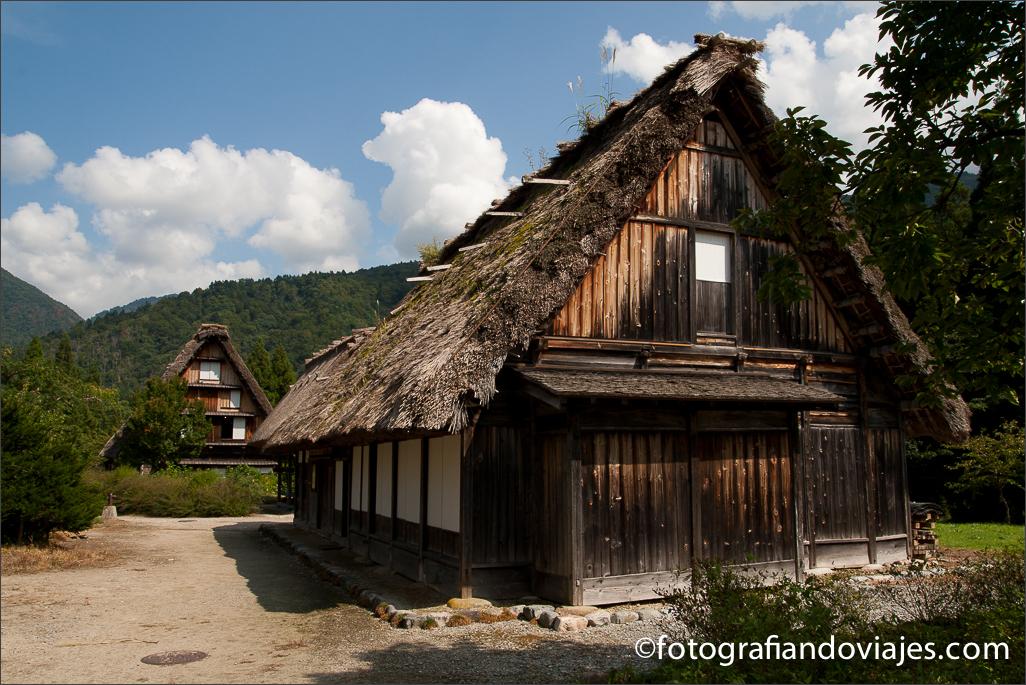 Gassho-Zukuri Minka-en en Shirakawa-go Ogimachi en Japón