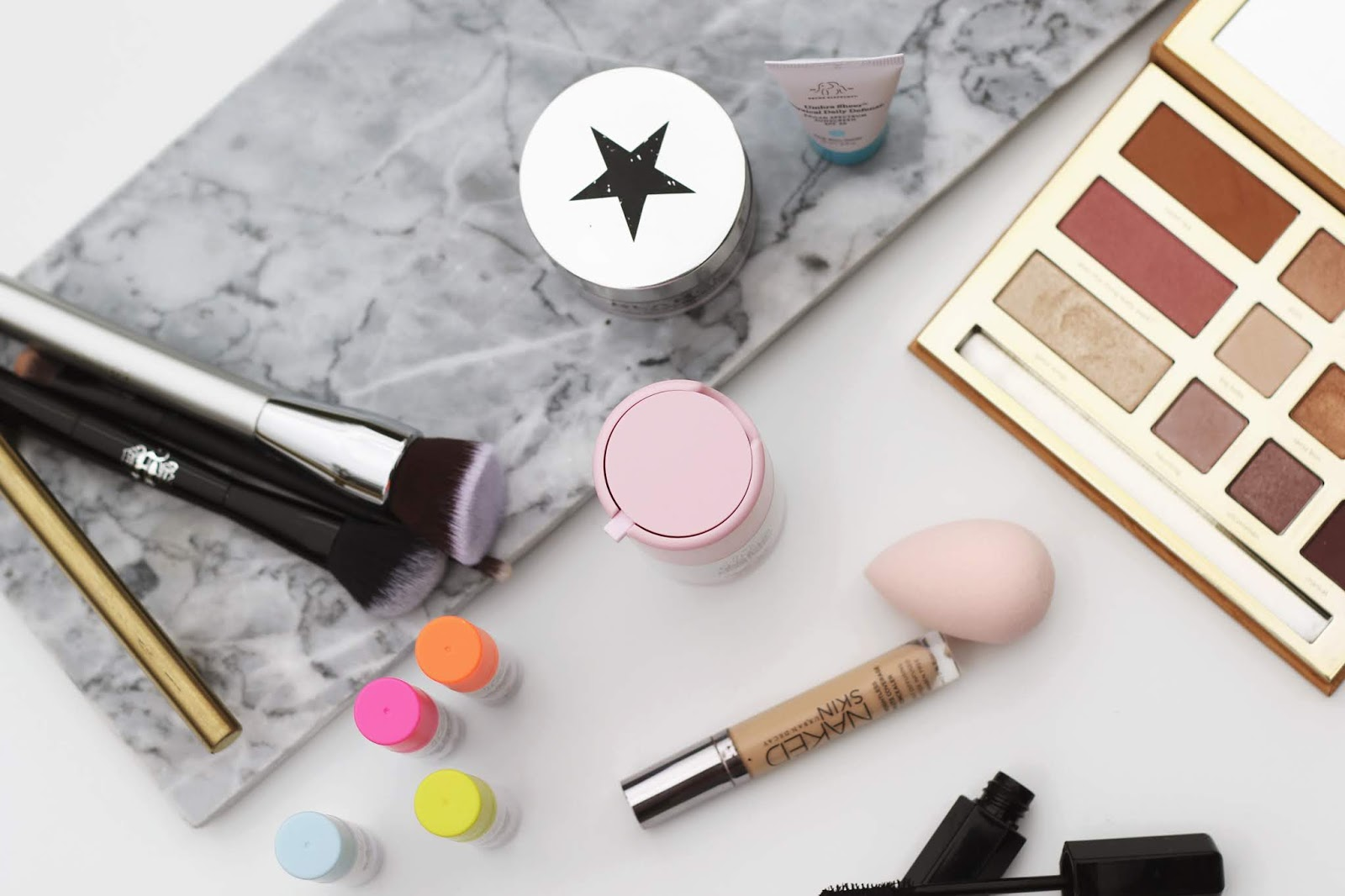 Makeup products, beauty flatlay, Drunk Elephant, sephora sale picks, beauty blogger, college blogger, lifestyle blogger
