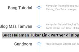 Cara Membuat Halaman Tukar Link Partner Keren di Blog