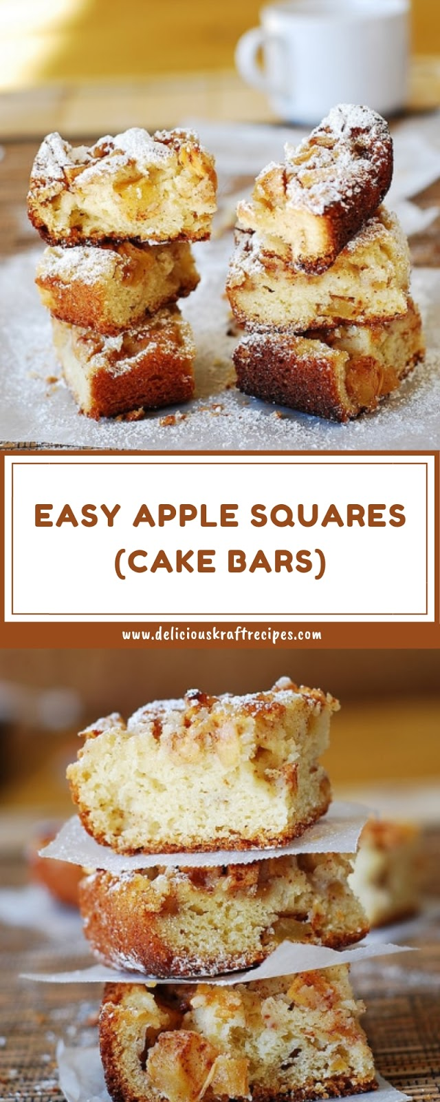 EASY APPLE SQUARES (CAKE BARS)