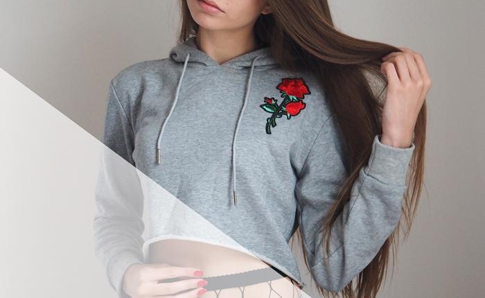 bluza z różą rosewholesale