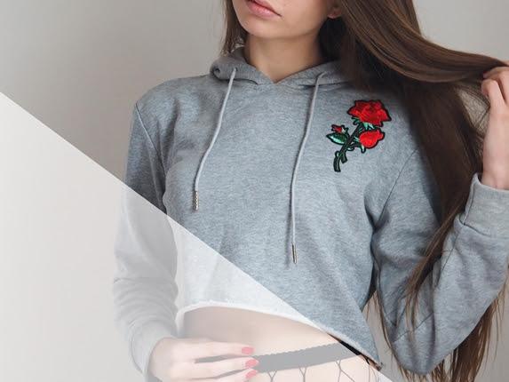172. Bluza z różą i szary dres + niepoukładane przemyślenia