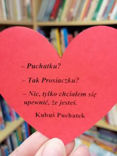 książki, ciekawa książka, romantyczne książki, książki na walentynki, cytat kubusia puchatka