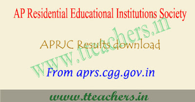 Manabadi APRJC 2018 results, aprjc notification result