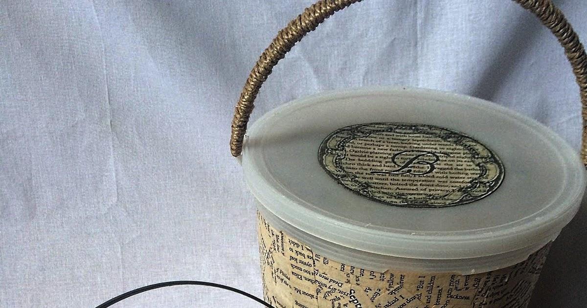 Upcycling Plastic Ice Cream Buckets Into New Storage