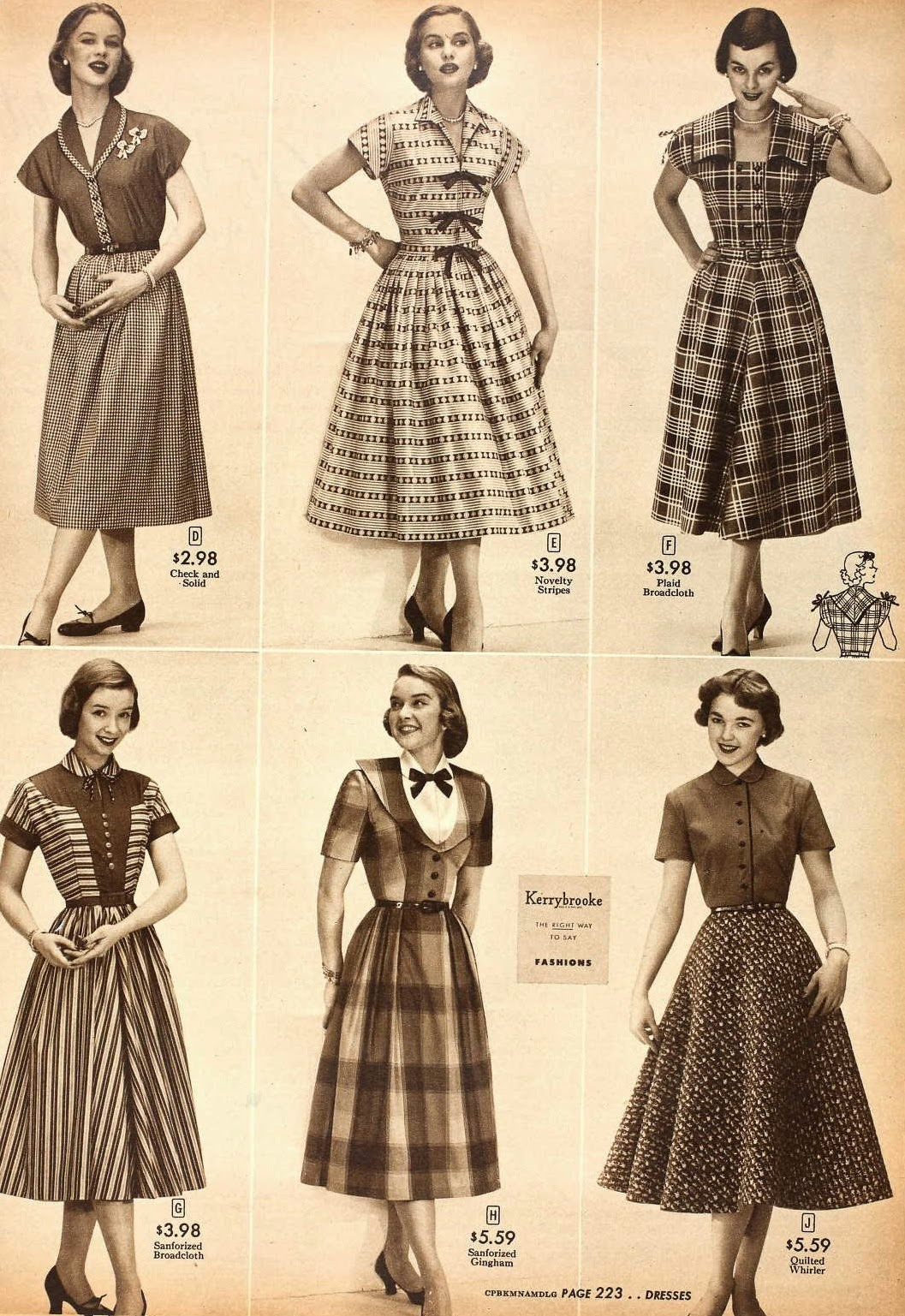 Snapped Garters: 1952 Fashions From Sears