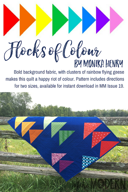 Make Modern Issue 19 Flocks of Colour Quilt Monika Henry